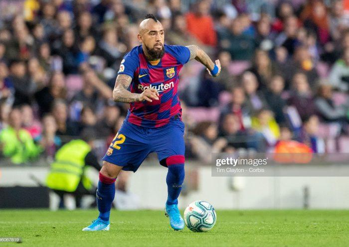 Arturo Vidal #22 of Barcelona