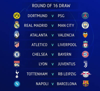 round of 16 ucl draw
