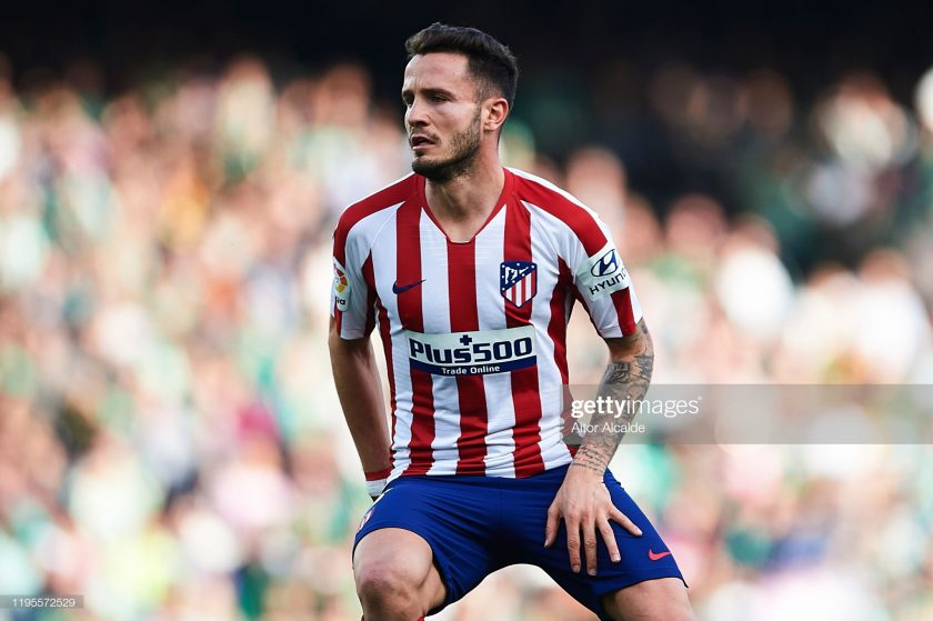 Saul Niguez of Club Atletico de Madrid