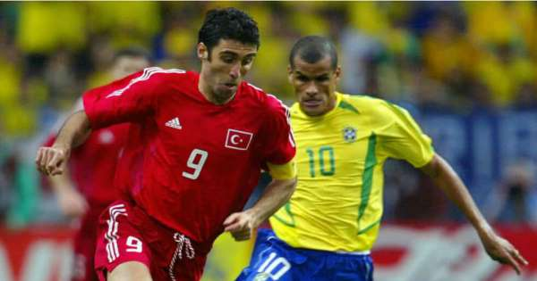 hakan sukur and rivaldo, world cup
