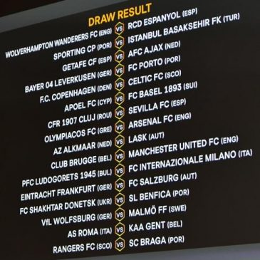 uefa europa league 2020, 1-16 finals, fixtures and schedule