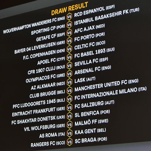 uefa europa league 2020 1 16 finals fixtures and schedule footballtalk org uefa europa league 2020 1 16 finals