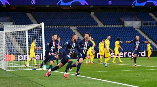 neymar celebrates psg vs dortmund