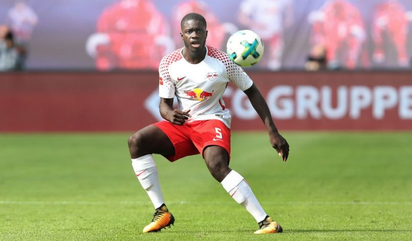 Dayot Upamecano leipzig rb shot the ball