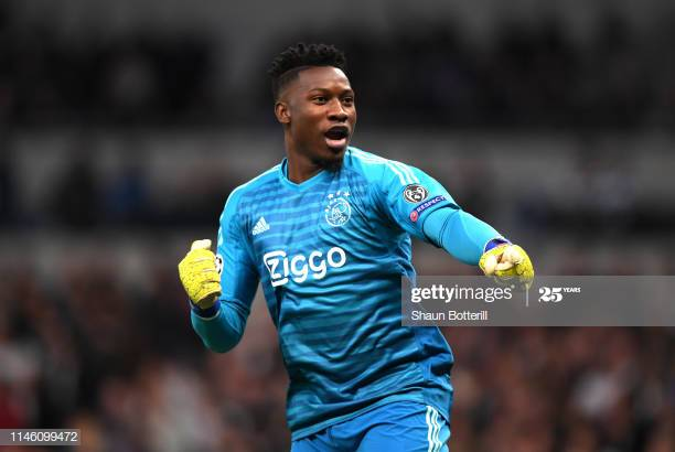 Andre Onana of ajax celebrates