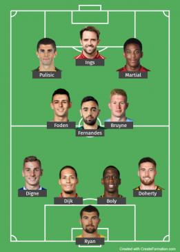 Premier League - team of the month - - june 2020
