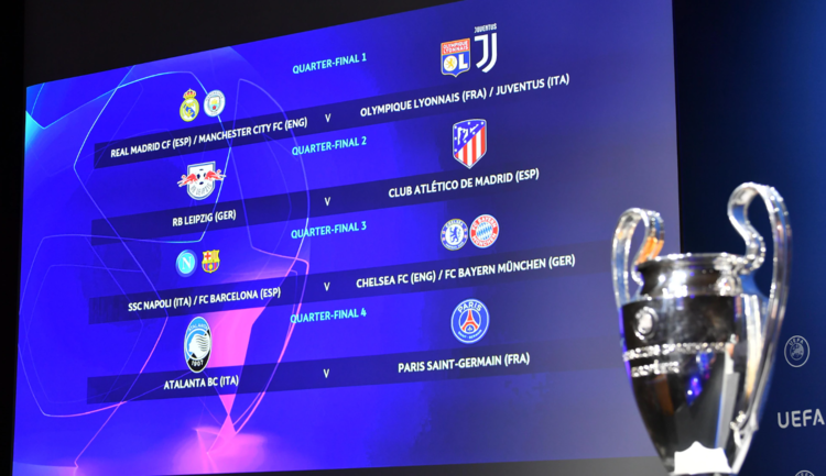 champions league draw 2020 semifinals and quarterfinals