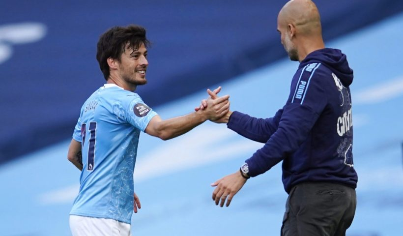 david silva and pep guardiola