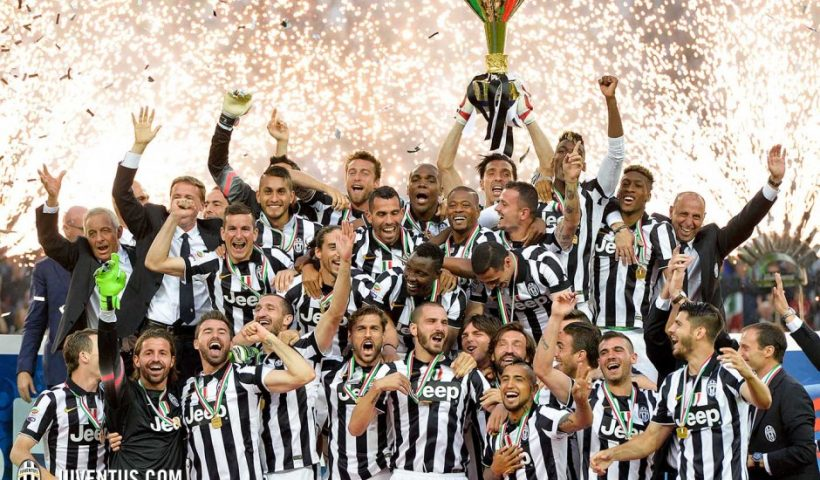 juventus celebrate the title in serie a