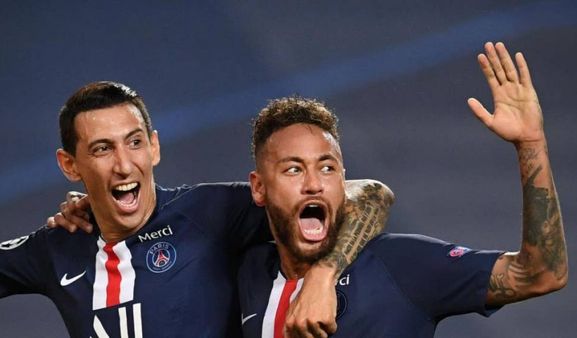 rb-leipzig-psg-di-maria-and-neymar-celebrate