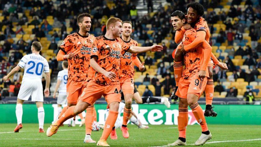 morata juventus champions league celebration