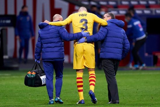 Pique injured barcelona