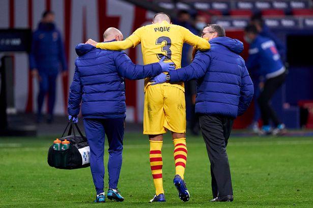 Pique injured barcelona