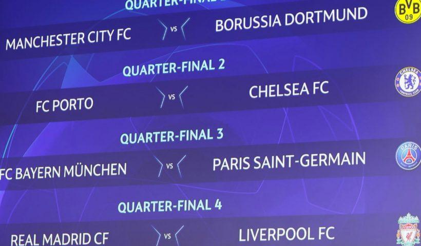 champions league quarter finals draw 2021