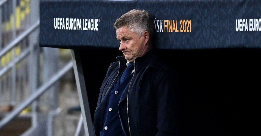 Ole-Gunnar-Solskjaer-reacts-during-the-Europa-League-final