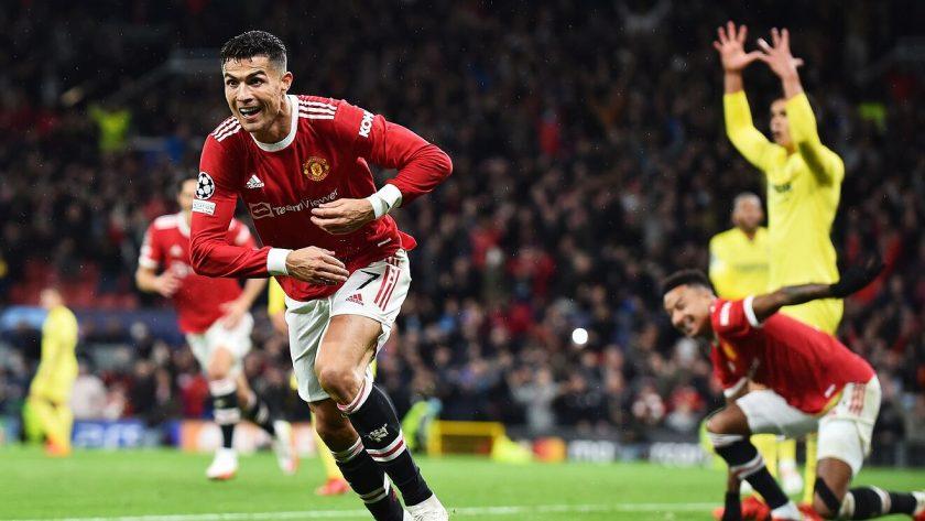 ronaldo celebrates goal against villarreal